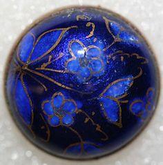 1880s French enamel button.