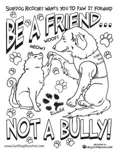 100 free coloring page of a Bullying Stops Here sign Color in
