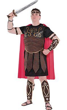 Adult Roman Centurion Costume Plus Size  sc 1 st  Pinterest & Adult mens greek god roman soldier warrior costumes emperor ...