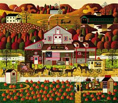 CHARLES WYSOCKI OLD GLORY FARMS AMERICANA ART