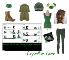 """Crystalline Green"" by thewolfwhotries on Polyvore featuring Palm Beach Jewelry, Bourbon and Boweties, Three Dots and J Brand"