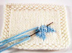 Duplicate stitch tutorial