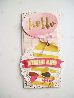 "Never Cut the Scrap!: ""Hello little one"" card. #card #cardmaking #mymindseye #scrapbooking"