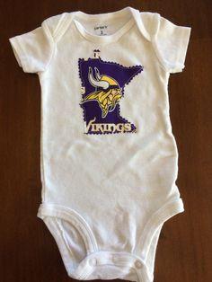 3d18ab82d Custom Minnesota Vikings 3-Month White Onesie - Carter's Brand - For: Jen F