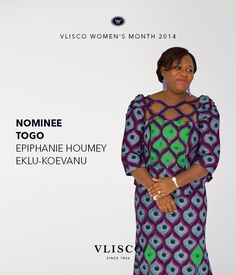 VLISCO WOMEN'S MONTH 2014 - NOMINEE EPIPHANIE HOUMEY EKLU-KOEVANU, FROM TOGO | Vote for Epiphanie before the 27th of March and get a chance to win fabulous prizes. Go to dream.vlisco.com for more information. | Vlisco, The True Original. | #vlisco #vliscowm2014 #dutchwax #wax #waxhollandais #waxhollandis #hollandis #ankara #ankarafashion #ankarastyle #fashion #africanprint #africanprintfashion #style #apparel
