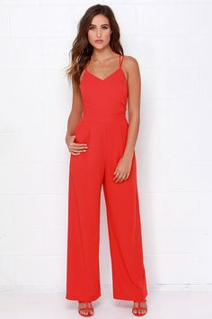 Skip and a Jump Red Jumpsuit at Lulus.com!