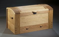 White Oak Chest Erik Curtis  Curtis adapted this piece from an 1898 chest by the…