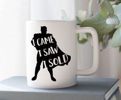 Shop ninety6nine Superhero I Came I Saw I sold | Realtor Coffee Mug,  Mug