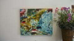 Telas Abstratas e Mandalas para decorações de ambientes. Decore com arte!: Arte abstrata- Brasil de braços aberto para copa