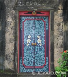 Decorated door, Bali