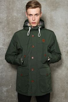 "Fred Perry Hunting Green Mountain Parka Jacket - ""Perfect for the upcoming winter months"" - Grab it now, here > http://tidd.ly/ab6f2e37"