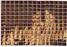 Polaroid Portrait Mosaics by Maurizio Galimberti.