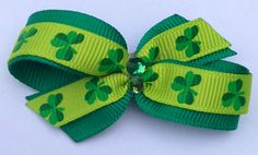 Four Leaf Clover Luck of the Irish  Dog hair bow by CreateAlley, $5.99