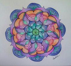 Watercolor mandala 3/1/14 by jen marsh
