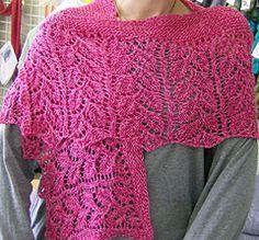 Ravelry: Rose Garden Shawl pattern by Vera Sanon Free pattern ... DK wgt ... 420 yards