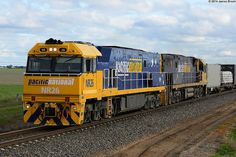 Australia - Freight train NR26 and NR102 at Jung with 1PM5 by VRfan, via Flickr