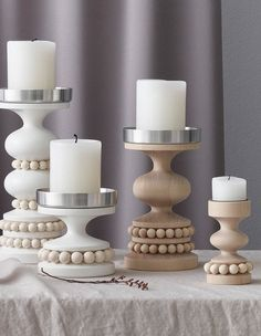 Ceramic Candle Holders, Pillar Candle Holders, Candlestick Holders, Candlesticks, Pillar Candles, Candleholders, Nordic Design, Scandinavian Design, Modern Candles