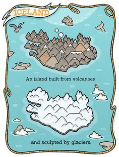 Iceland Volcanic Map