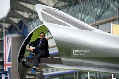 Internationally renowned creative, Sebastian Conran, unveils an outstanding work of art crafted from the authentic nose of Concorde during an official photocall at Ascot Racecourse on June 14, 2013 in Ascot, England. The sculpture, aptly named ICON, has taken years to create, resulting in a piece that celebrates man's conquering of supersonic flight.