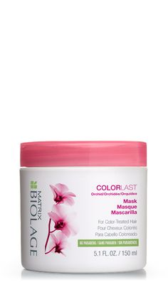Discover Biolage's ColorLast Mask, formulated with orchids to provide intense moisturization and maintain color depth.