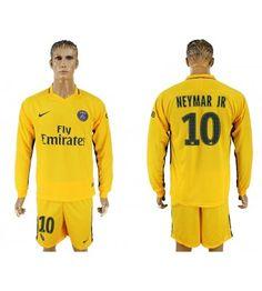 Billiga PSG Neymar Jr 10 Bortatröja 17-18 Långärmad Neymar Jr, Psg, Manchester United, Sports, Fashion, Goaltender, Leotards, Football Soccer, Hs Sports
