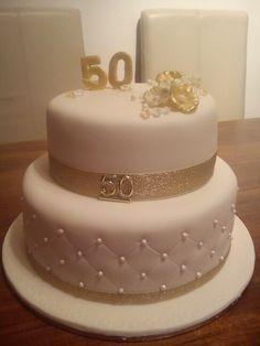 5oth anniversary cakes | Cake: 50th / Gold Anniversary cake ideas