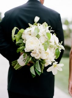 pure white and green bouquet Tanja Lippert Photography // flowers by Adorations Botanical Artistry
