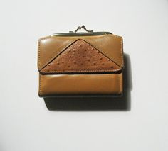 Vintage Ladies Honey Golden Leather Wallet / by littlebearandbunny, $16.50