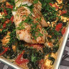 Greenway36: Ofen-Fisch mit Spinat, Tomate und Feta