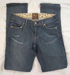 Rich & Skinny Sleek Skinny Leg Low Rise Womens Jeans Size 25 (Q21#506) #RichSkinny #SlimSkinny