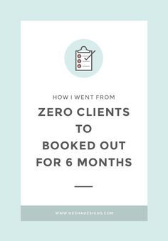How I went from zero clients to fully booked for six months Nesha Designs