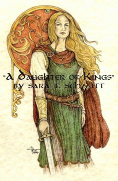 A DAUGHTER OF KINGS Lord of the Rings Art Print 85x11  by SaraWen