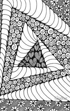 Zentangle zentangles and doodles motivi di zentangle, zentan Zentangle Drawings, Doodles Zentangles, Doodle Drawings, Easy Drawings, Doodle Art Designs, Doodle Patterns, Zentangle Patterns, Art Patterns, Doodle Art Journals