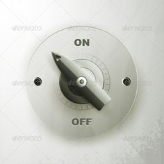 On off switch on a gray background