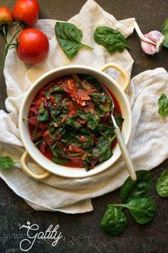Kulinarne przygody Gatity - przepisy pełne smaku: przepisy Dąbrowska Dieta Fitness, Chana Masala, Spinach, Recipies, Food And Drink, Healthy Recipes, Meals, Vegan, Cooking