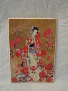 WOODBLOCK PRINT #1, asian art, wood board, wood wall art, Handmade wood print. Home decor di KnockOnWoodCraft su Etsy