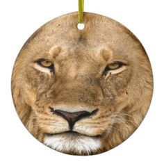 Lion With Great Mane Ceramic Ornament