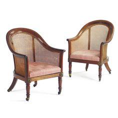 c1820 A pair of George IV caned mahogany bergères circa 1820 Estimate 10,000 — 15,000 USD LOT SOLD. 16,250 USD
