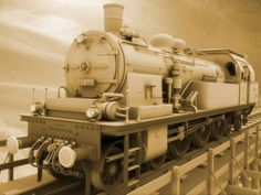 Papel de Parede - Locomotiva Antiga