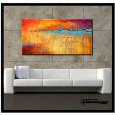 Modern, Abstract Painting. Limited Edition, Hand Embellished Giclee on Canvas. Direct from Studio ELOISEWORLD. XL 60 X 24...