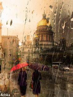 Анимация Осенний Санкт-Петербург