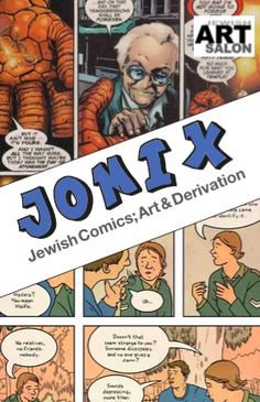 Catalog cover of our art exhibitJOMIX-Jewish Comics; Art & Derivation. Designed by Dorit Jordan Dotan. Exhibit at The Philadelphia Museum of Jewish Art, Sep 1-Nov 15, 2015. https://jewishartsalon.org/2015/08/03/jomix-jewish-comics-art-derivation-at-philadelphia-museum-of-jewish-art/