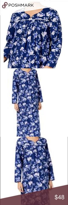 35a08f3990 Charter Club medium Garden Floral Flannel Nightgow Charter Club size medium  Garden Floral Flannel Nightgown