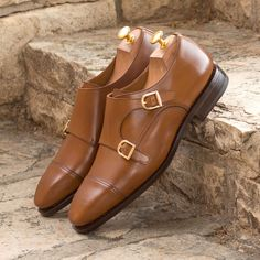 Custom Made Goodyear Welted Double Monks in Cognac Box Calf From Robert August. Create your own custom designed Double Monks .#shoes #shoesoftheday #dapper #menswear #mensfashion #luxurylifestyle #success #hot #style #bespoke #luxury .