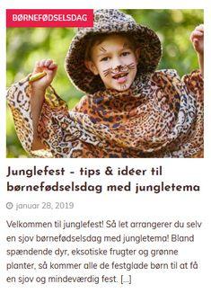 Velkommen til junglefest! Så let arrangerer du selv en sjov børnefødselsdag med jungletema! Bland spændende dyr, eksotiske frugter og grønne planter, så kommer alle de festglade børn til at få en sjov og mindeværdig fest