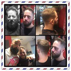Leo nos visita con con una gran necesidad de reestructurar cabello y barba y así de chulazo lo dejamos 😉.