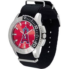 Game Time MLB Men's Los Angeles Angels Starter Series Watch, Black