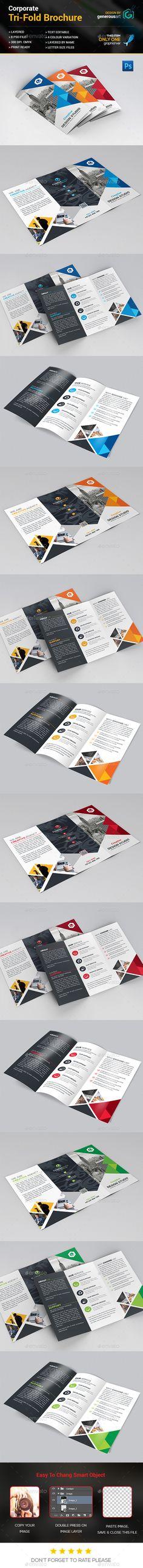Modern Tri-Fold Brochure Template PSD. Download here: http://graphicriver.net/item/modern-trifold-brochure/15076382?ref=ksioks