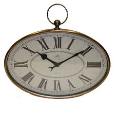 Antique Metal Round Wall Clock Duvar Saati Pinterest Metals