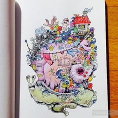 Artist Kerby Rosanes Presents Doodle Invasion The Awesome Coloring Book For Adults